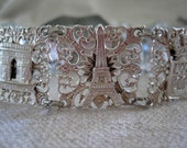Vintage French Souvenir Bracelet - Eiffel Tower