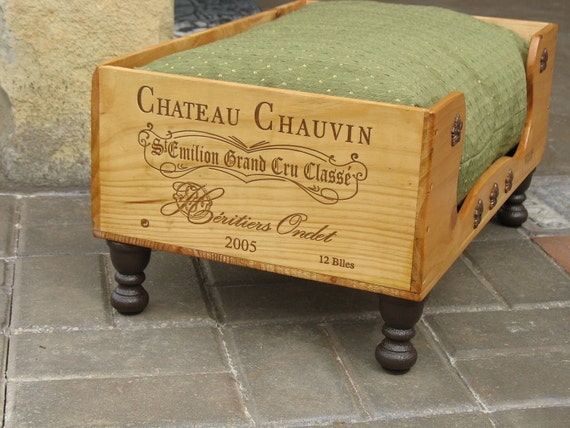 Sale Cat Dog - Dog Bed - Pet Bed Wine Box Recycled Up cycled Wooden Wine Box