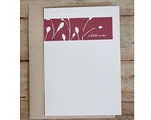 Vines Blank Greeting Card (set of 5 cards)