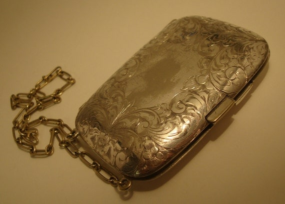 Complete Vintage Change purse with Mirror