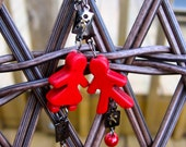 Girl Meets Boy earrings in red