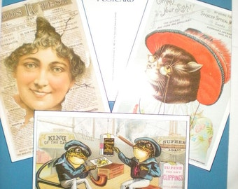 Antique Advertising Postcards in full color 24-ready-to-mail Postcards from the  Landauer Collection of the New-York Historical Society