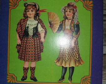 Dolls of All Nations cut-out paper dolls circa 1900