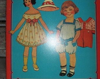 Old Fashioned Cut-out Paper Dolls and Costumes from the Early 1900's