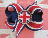 Union Flag Hair Bow