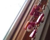 Mod-Inspired Purple Polymer Earrings