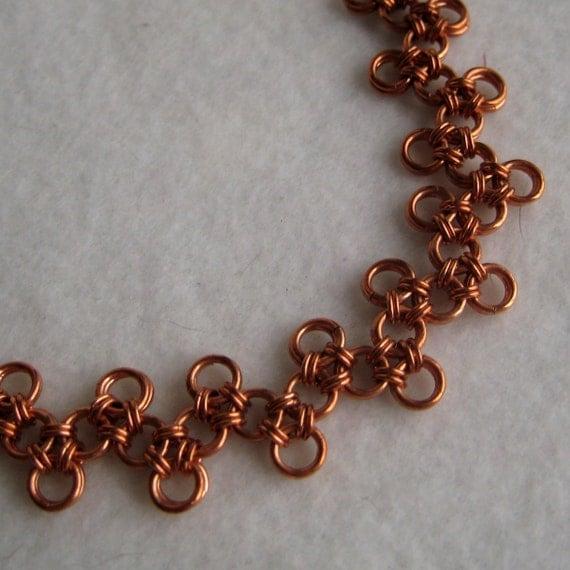 Zig Zag Jewellery: Items Similar To Zig Zag Copper Bracelet. On Etsy