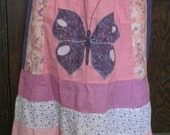 Teared patchwork butterfly skirt