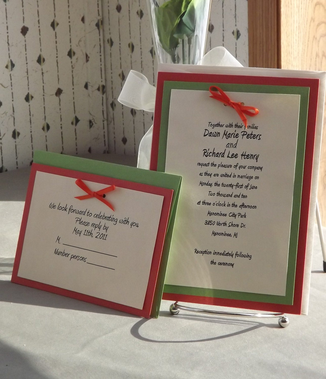 Wedding Invitation Kit: SALE DIY Wedding Invitation Kits With Invitations RSVP And