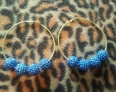 Gold hoops with crystal balls