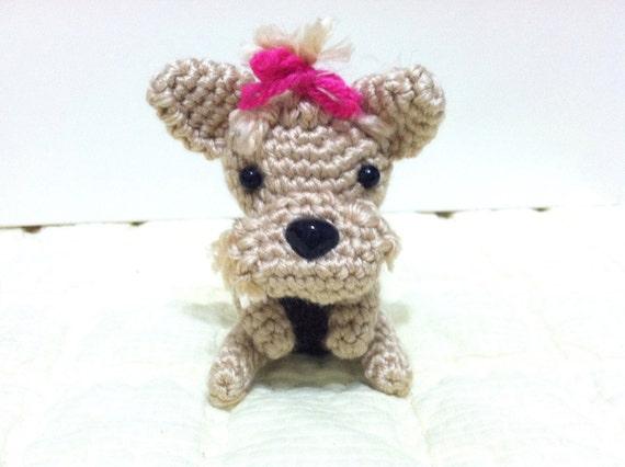 Amigurumi Crochet Yorkie : Amigurumi Crocheted miniature Yorkie
