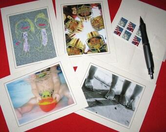 Kid Stuff Blank Notecard Set of 4