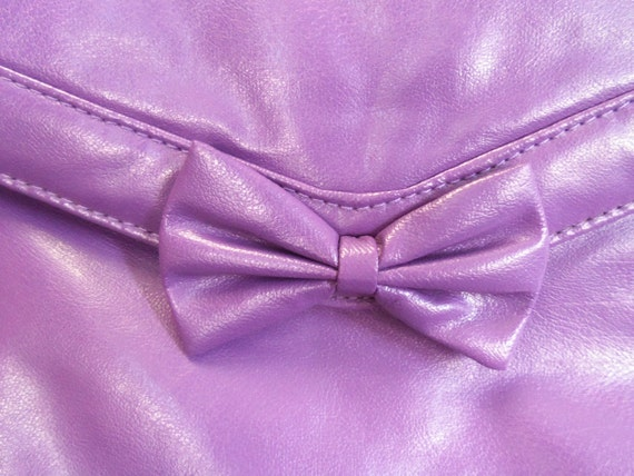 80s Purple Clutch with Bow BRAND NEW