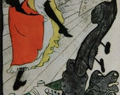Toulouse Latrec Lithograph Book Print Illustration 1893 Jane Avril