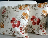 Handmade, decorative, patterned, red, white, yellow, flowering, lace pillows