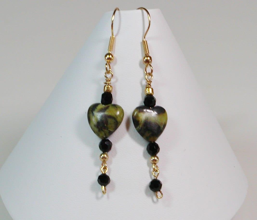 turquoise heart dangle earrings. Black Bedroom Furniture Sets. Home Design Ideas