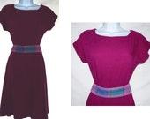SALE  vintage   Carol Anderson  gauzy magenta pink dress      boho hippie