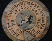 "FREE SHIPPING - Ouija board - Spiritistic board - Talking board ""Flight of Young Witches"""