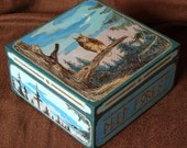 """FREE SHIPPING - Wooden Box - Hand Painted Box - Jewelery Box """"Deep Forest"""""""