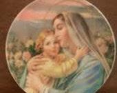 Vintage Madonna & Child Decorative Plate
