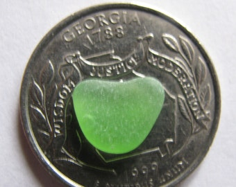 Sea glass green heart