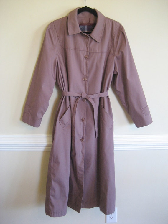 Classic London Fog Lined Trench Coat / Women's Raincoat / Removable Winter Lining Coat / Woman's Coat Size 10 / London Fog Coat