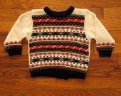 vintage children's sweater.