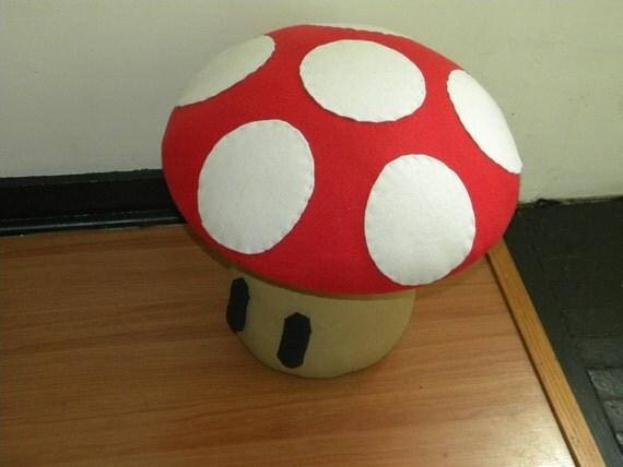 Mario Mushroom Footstool Ottoman