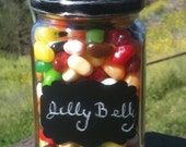 Easter Jelly Belly Jar Basket with Chalk Board Label