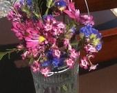 Wedding Aisle Flower Hanging Jars or Candle Luminaries