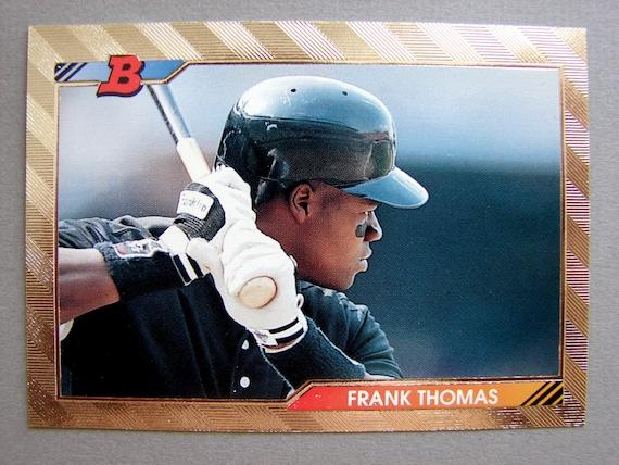 Vintage 1992 Bowman Foil Frank Thomas Baseball By Chrisandjane