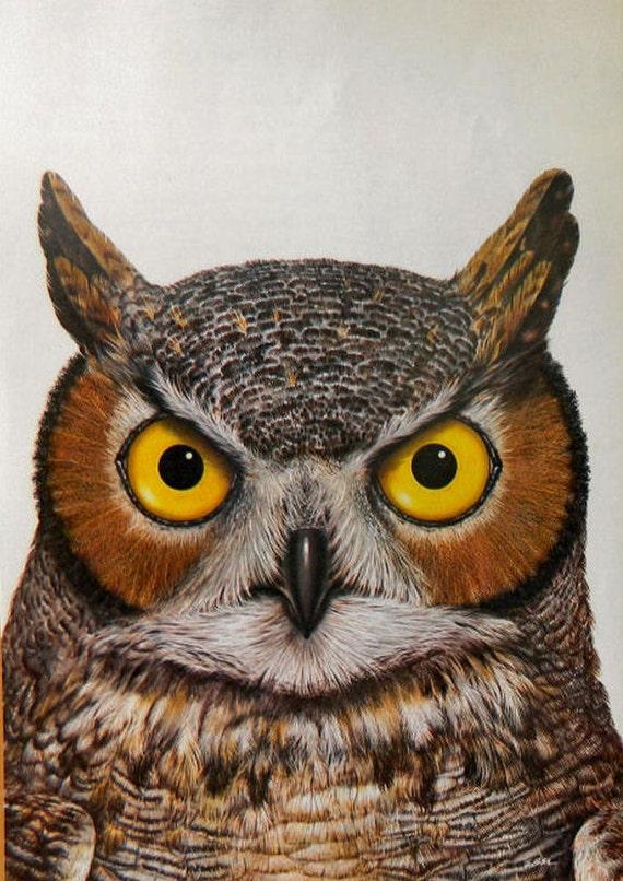Owl Print -  full-page vintage illustration for framing or altered art