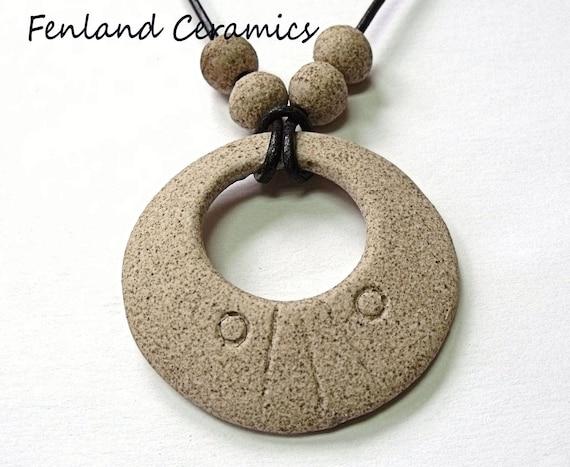 Ring Stone Ceramic Pendant