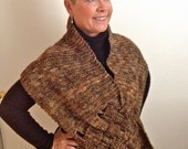 Poncho style shawl