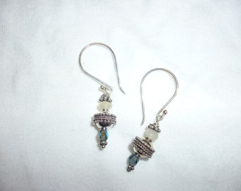 Moonstone & Sterling Earrings