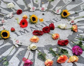 Strawberry Fields,  John Lennon Memorial in Central Park, New York City, 'Imagine', New York City Photography