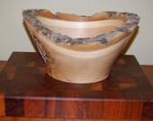 "White Ash Natural Edge Bowl.  12 1/2"" Diameter x 6 3/4"" Height"