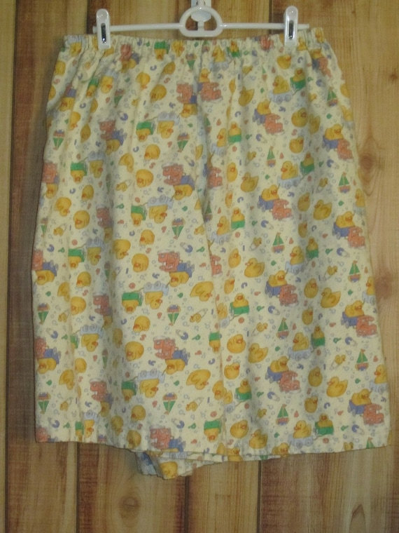 Adult Baby Toddler Shorts Yellow with Ducks