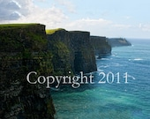 Ireland Photography. 24x36 inch canvas of Cliffs of Moher, Ireland