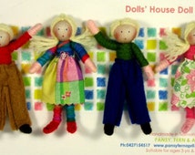 Dolls House Doll Set -customisable (The Brothers & Sisters)