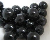 6mm Black Bead 20 Pack, Handmade Bead Supplies