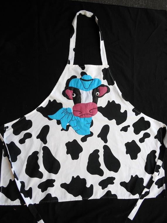 Cow print apron
