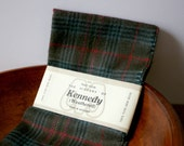 Vintage Kennedy Weathered Pure Wool Scarf from Scotland for him men plaid