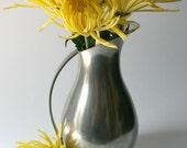 Vintage Royal Holland Pewter Pitcher K.M.D. TIEL - gray grey yellow