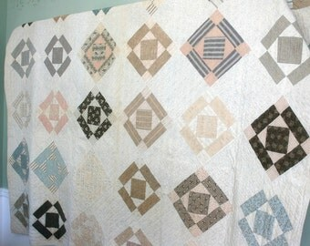 Vintage Quilt 1930s Depression Era Patchwork Heirloom American