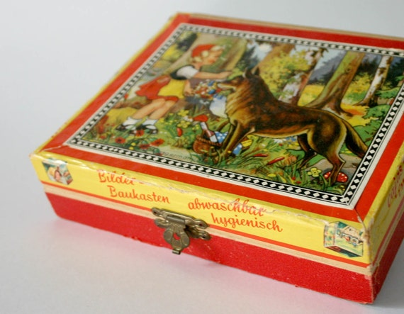 Vintage Fairy Tale Puzzle Blocks in Box - West Germany