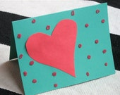 PINK HEART hand made cards