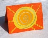 HAPPY BIRTHDAY SUN blank greeting card