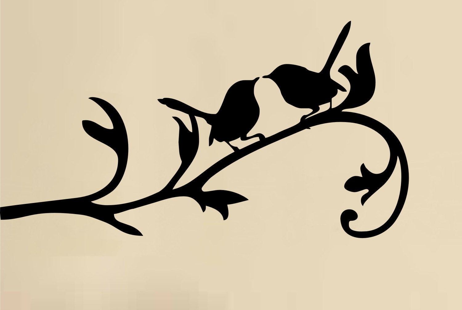Love Birds on Branch wall decal vinyl art sticker by ...