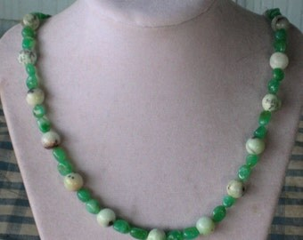 Chrysophrase Bead Necklace